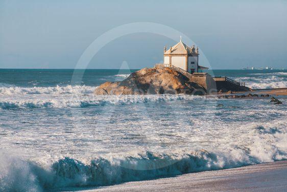 Chapel Senhor da Pedra on Miramar Beach (Praia de...