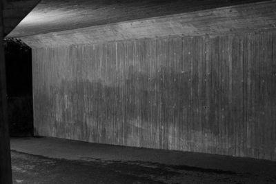 One gloomy walkway tunnel