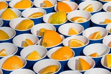 Oranges In A Cup