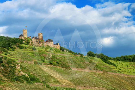 Thurant  Castle above Alken town on Moselle River,...