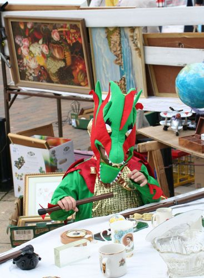 Dragon at a flee market