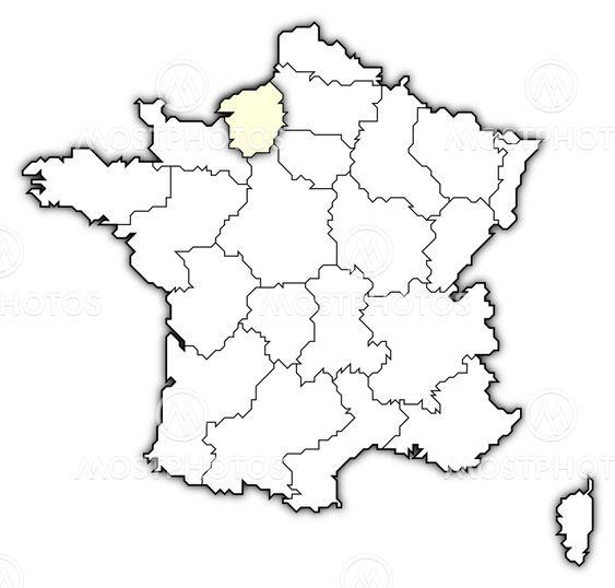 Karta Over Frankrike Haute Av Steffen Hammer Mostphotos