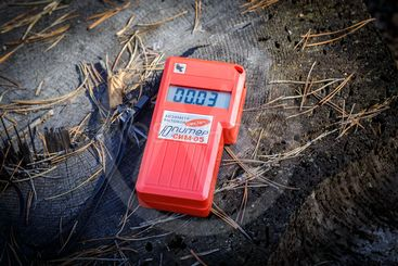 measurement of the radiation level in the forest 60...