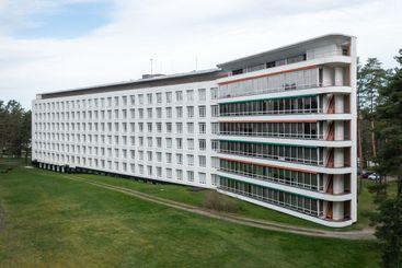 Paimio Sanatorium building designed by Alvar Aalto.
