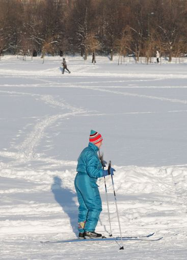 go skiing at winter  day