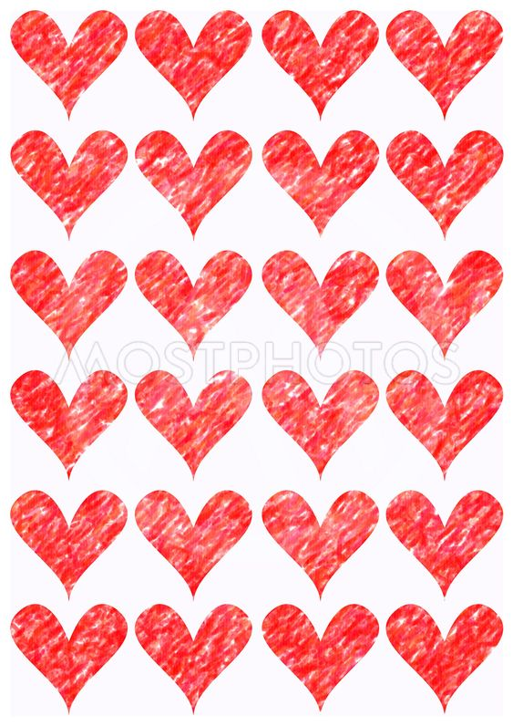 Decorative Hearts for prints