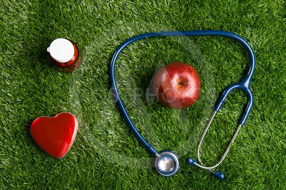 stethoscope and heart healthcare concept photo
