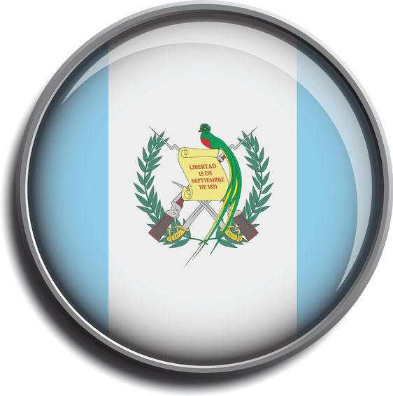 flag icon web button guatemala