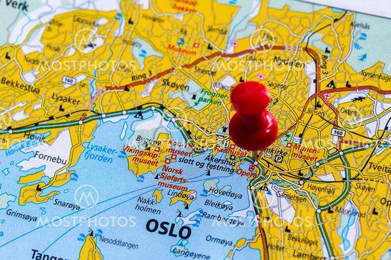 Karta Over Oslo Fra Bengt Hultqvist Mostphotos