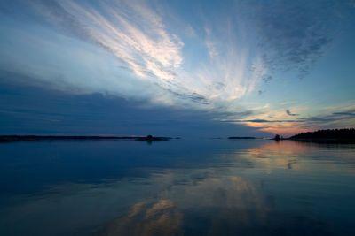 Nordic summer night sunset.