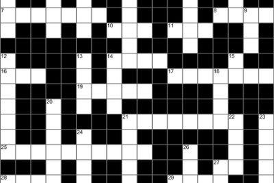 Blank crossword puzzle