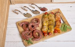 assortment of meat for barbecue
