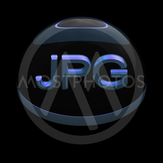 3D Style file format icon - JPG