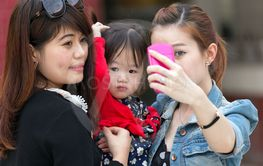 Korean women selfie