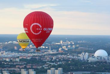 Air balloons over Stockholm