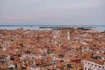 Panoramic views of the city and the Cathedral of Santi...