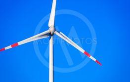 wind energy detail blue sky