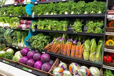 The vegetable aisle   at a Publix grocery store in...