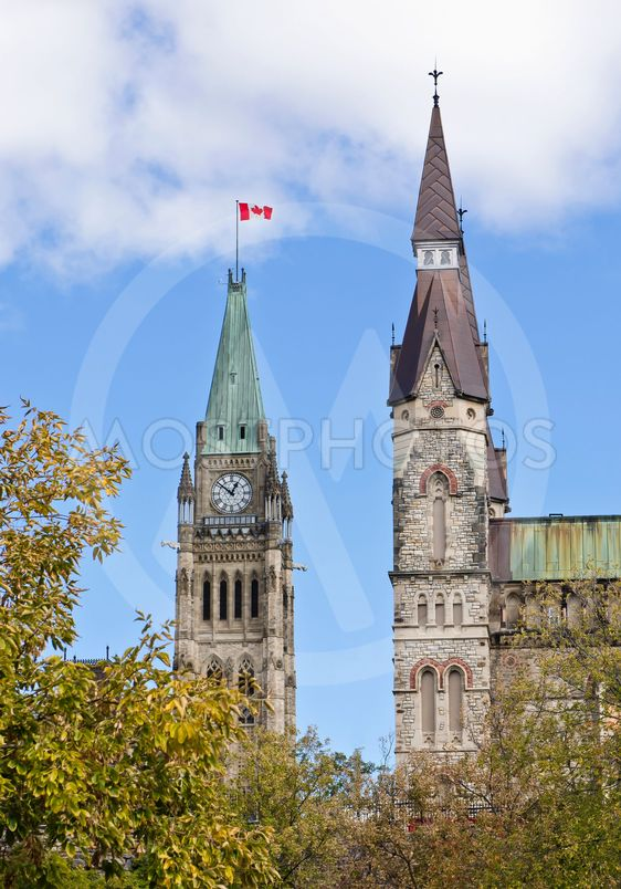 Centre and West Block Towers