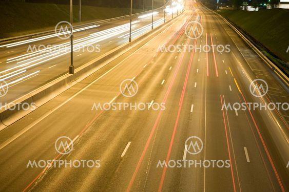 traffic light in night