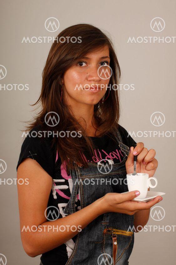 Brunette girl taking you