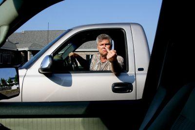 road rage gesture
