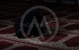 Businessman Muslim Praying in Mosque