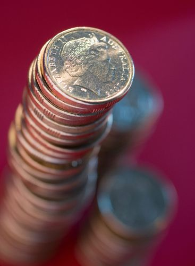 stack of australian dollar coins