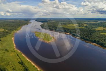 Volga expanses (aerial photography). Russia