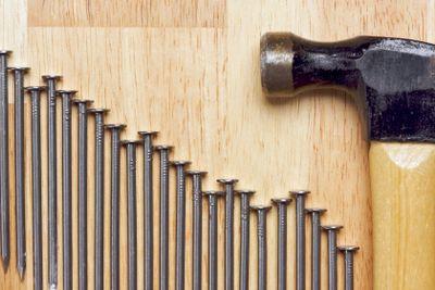 Hammer and Nails Abstract