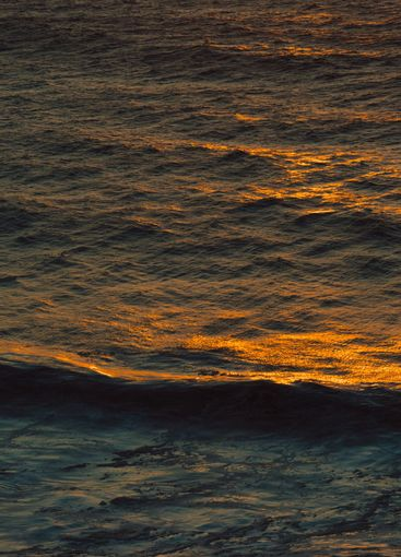 Massive and peaceful wave in a colorful ocean with copy...