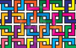 Interlaced Squares Seamless Background