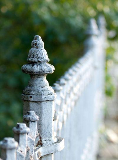 White Iron Fence