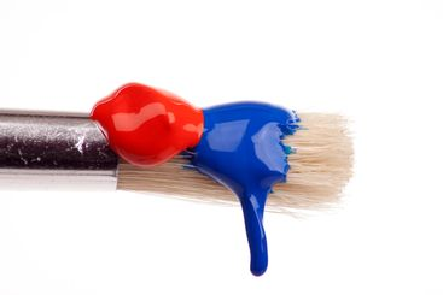 dripping paint brush