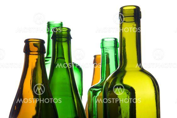 empty bottle closeup