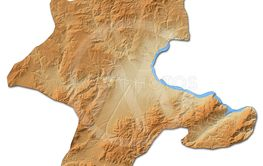 Relief map - Malatya (Turkey) - 3D-Rendering