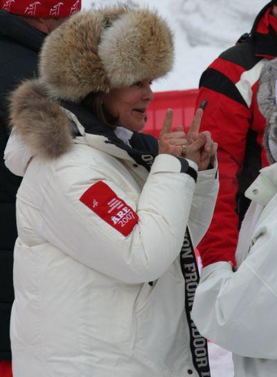 The Queen of Sweden is measuring