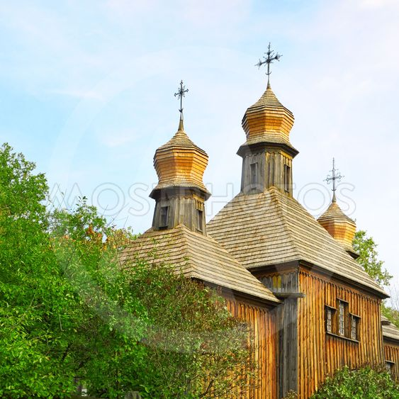 Orthodox Church, the old wooden building