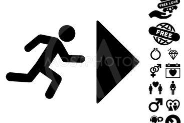 Exit Direction Icon with Love Bonus