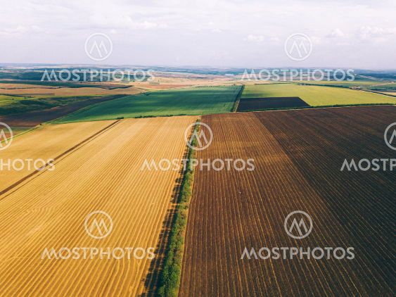 Beautiful photo made with drone of amazing crop fields...