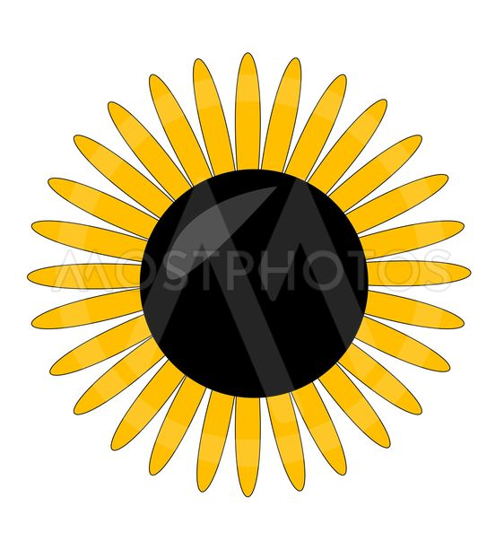 yellow flower symbol on the white