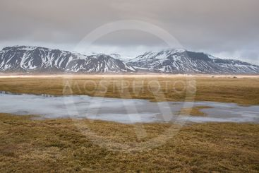 Winter dramatic  landscape in Iceland