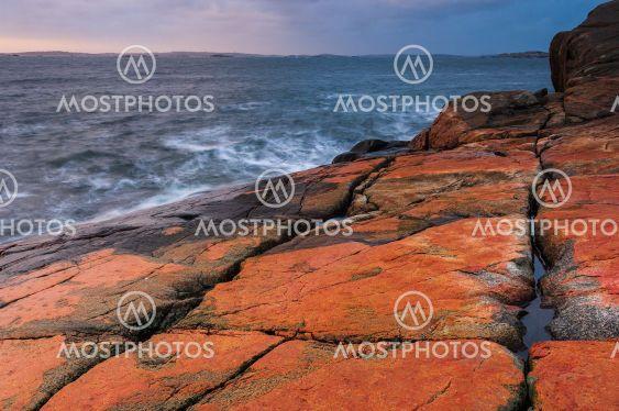 Coastal scenery at dusk, Sweden