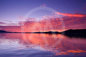 Pink Magenta Sunrise Seascape.