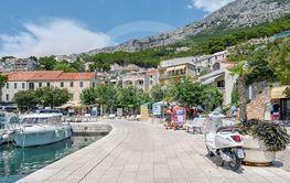 The harbor in Brela, Croatia