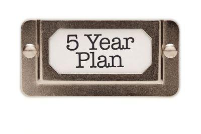5 Year Plan File Drawer Label