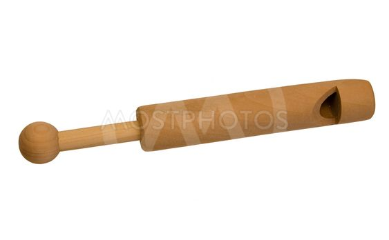 Vintage wooden whistle