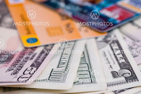 Money and visa cards