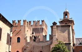 Fortified entrance door of the city of Ferrara - Italy