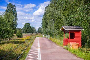 Den numera nedlagda hållplatsen Öjervik på Fryksdalsbanan...